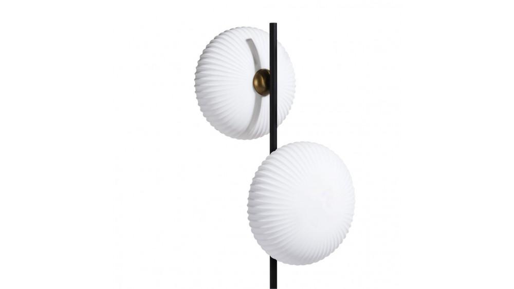 David Vloerlamp 2*G9 - Zwart / Antraciet