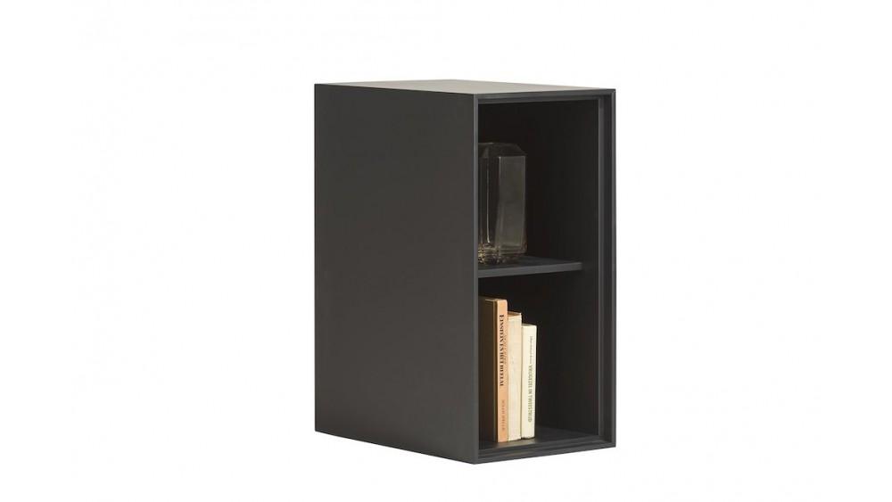 Elements, Box 60 X 30 Cm. - Lak - Hang + 2-Niches + Led - Off Black