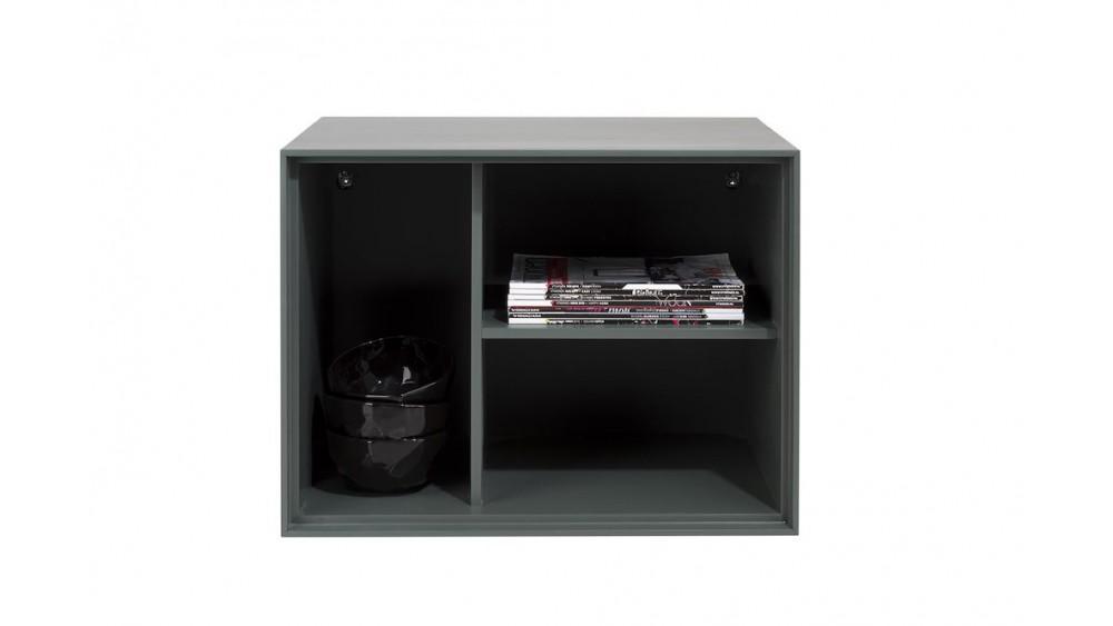 Elements, Box 45 X 60 Cm. - Lak - Hang + 3-Niches + Led - Groen