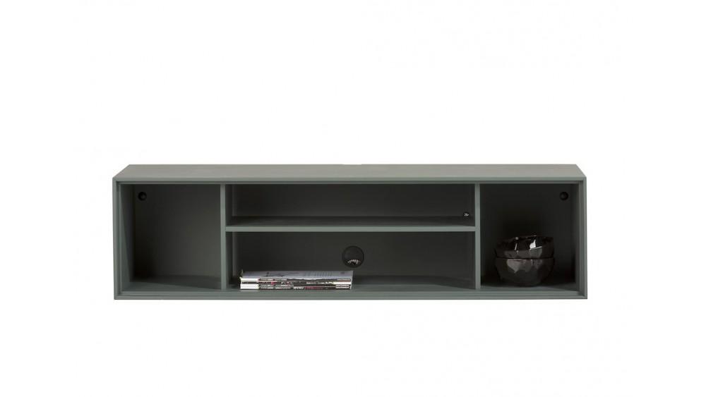 Elements, Box 30 X 120 Cm. + Legplank - Lak - Hang + 4-Niches + Led - Groen