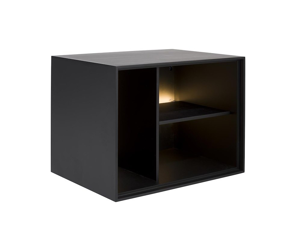 Elements, Box 45 X 60 Cm. - Lak - Hang + 3-Niches + Led - Off Black