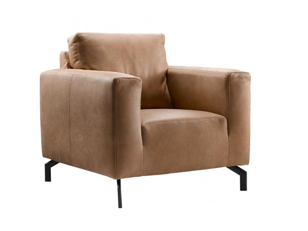 fauteuil noria cognac leer