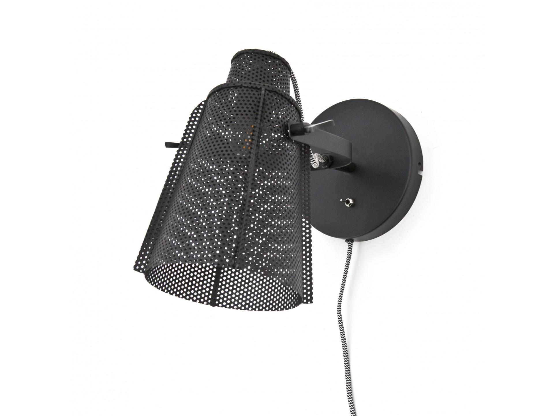 Wandlamp APOLLO Metaal Zwart