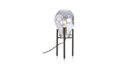 Charlie Tafellamp 1*E27 - Zwart / Antraciet
