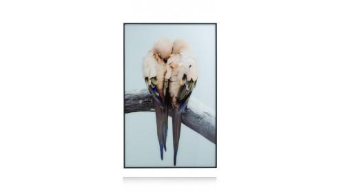Lovebirds Fotoschilderij 140X90cm