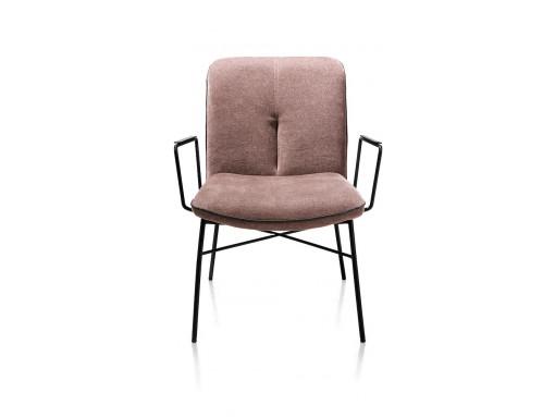 Quint, Lounge Met Arm - Stof Enova - Burgundy Red