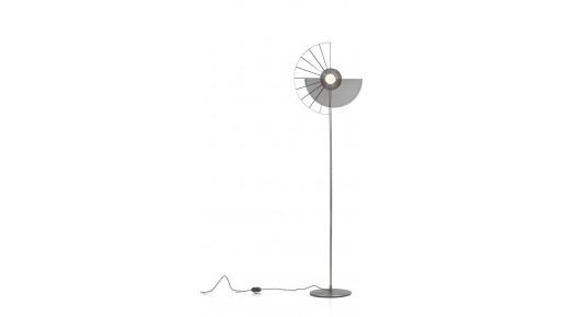 Crawford Vloerlamp 1*G9 - Zwart / Antraciet
