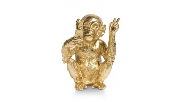 Monkey Mike Beeld H15cm