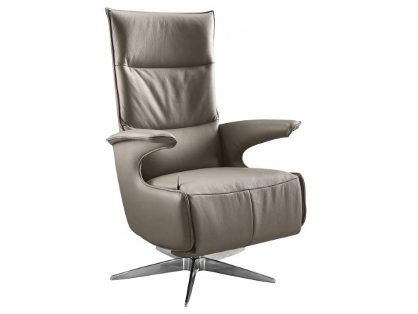 relaxfauteuil gubbio m taupe leer