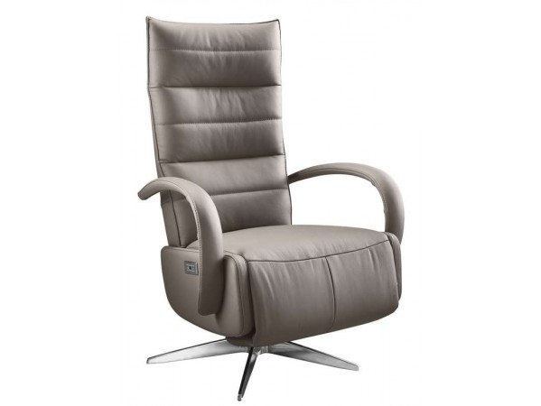 relaxfauteuil gubbio xs taupe leer