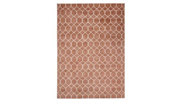 vloerkleed laatz koper/wit 170x230cm