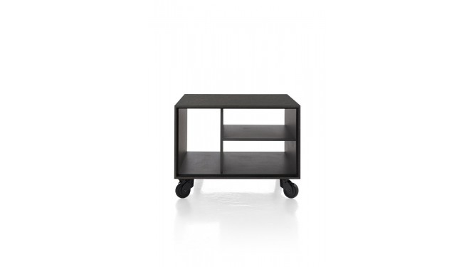 Elements, Hoektafel 60 X 60 Cm. + 3-Niches - Met Zwarte Wielen & Extra Set Poten - Onyx