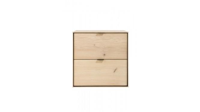 Elements, Box 60 X 60 Cm. - Hang + 2-Laden - Natural