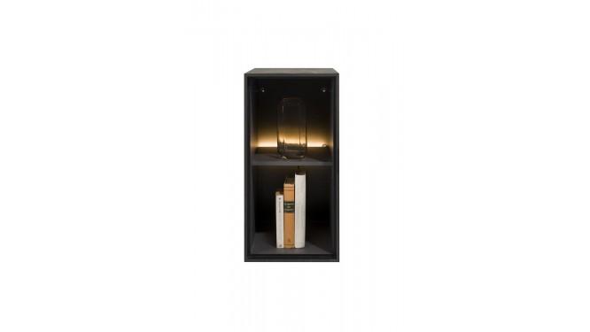 Elements, Box 60 X 30 Cm. - Hout - Hang + 2-Niches + Led - Onyx
