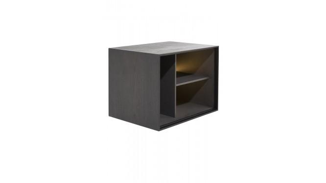Elements, Box 45 X 60 Cm. - Hout - Hang + 3-Niches + Led - Onyx