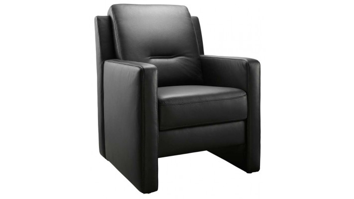 fauteuil enno met hoge rug zwart leer