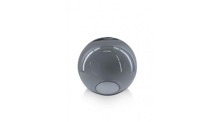 Gaby Glazen Bol D25cm - Zwart / Antraciet