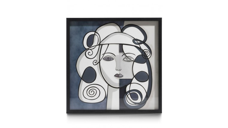 Abstract Face 3D Wandobject 60X60cm