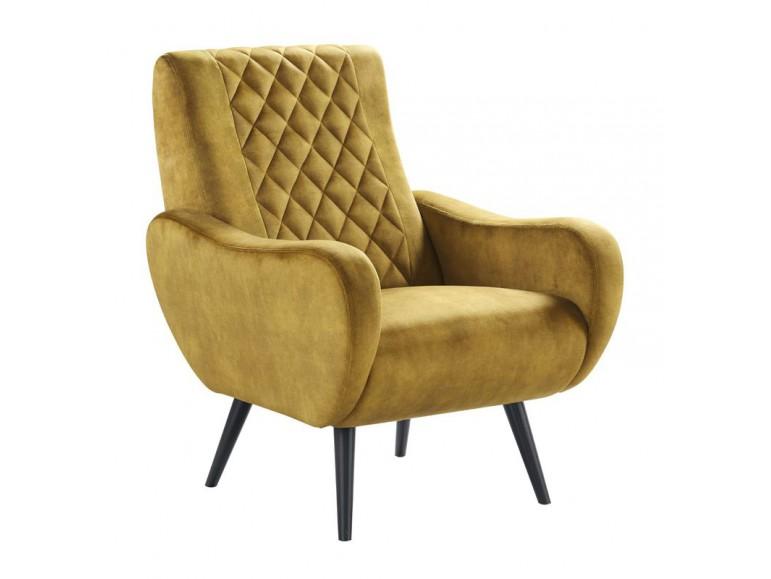 fauteuil sentio okergeel velvet
