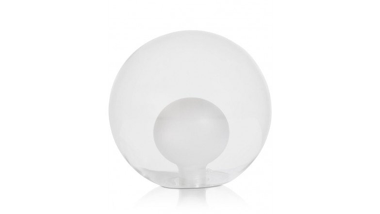 Malin - Vervanging Glas - 15 Cm Transparant / Grijs / Antraciet - Zwart / Antraciet