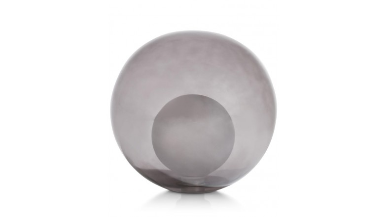 Malin - Vervanging Glas - 18 Cm Transparant / Grijs / Antraciet - Zwart / Antraciet