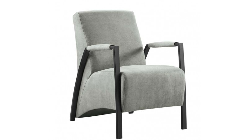fauteuil grandola grijs en zwart