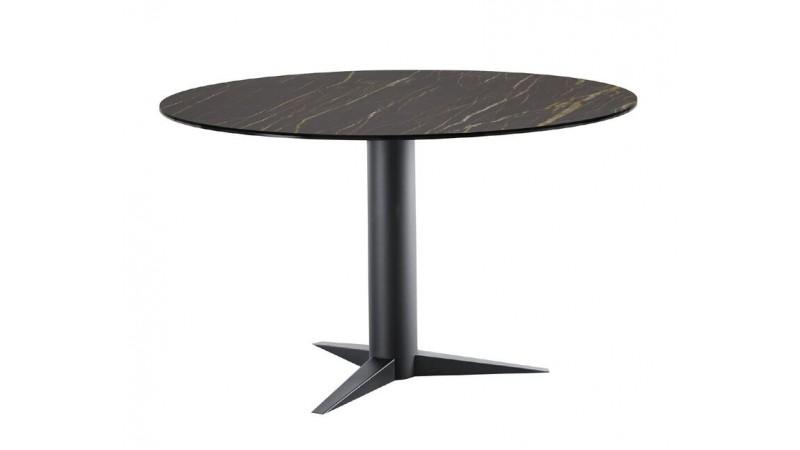 Eettafel Ranara rond keramiek zwart ÿ130cm
