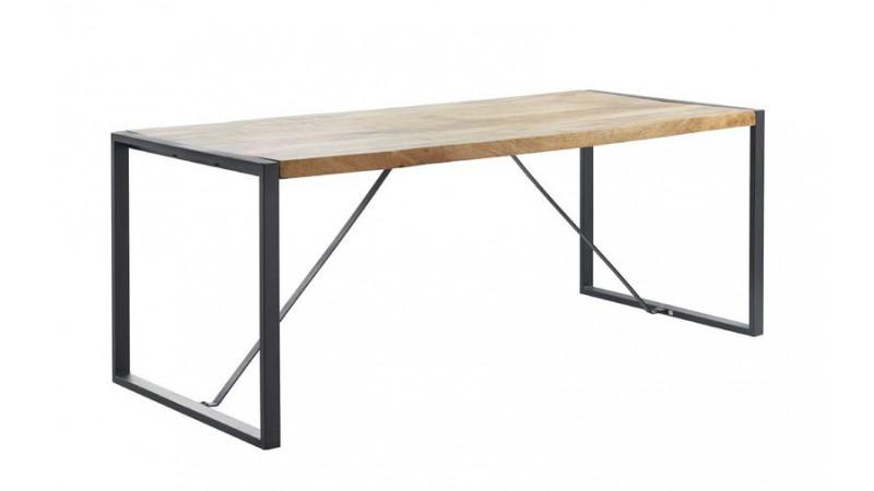 eettafel slider rechthoek mangohout 200x90cm