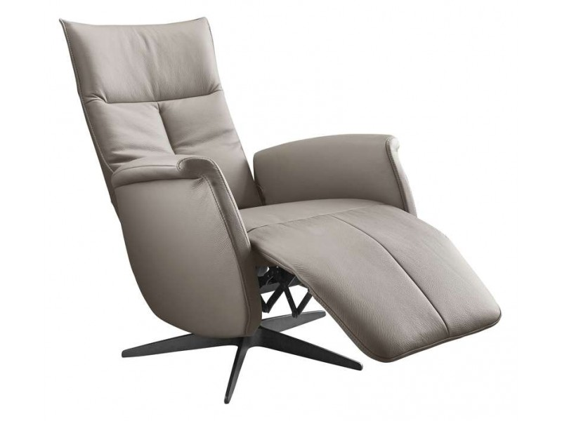 relaxfauteuil gubbio s taupe leer