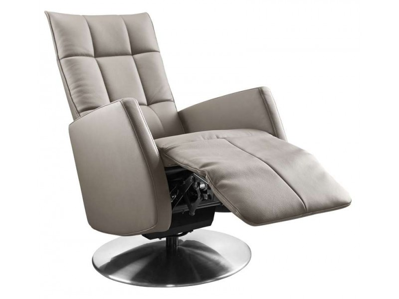 relaxfauteuil gubbio l taupe leer
