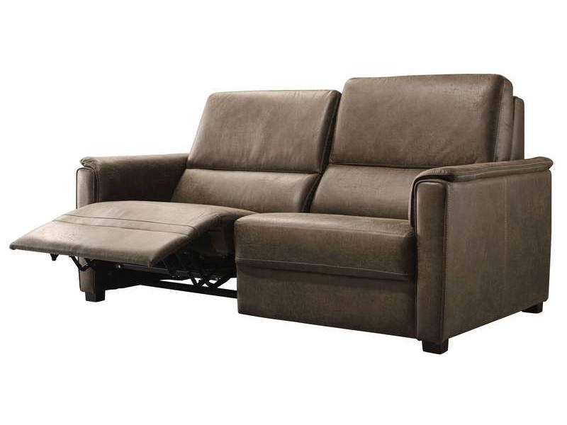 3-zitsbank met relax tenso bruin