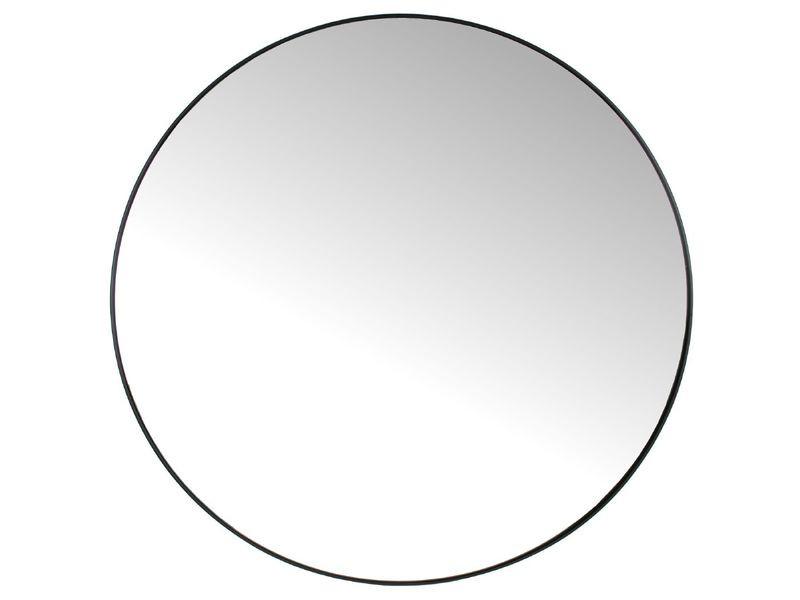 Spiegel metaal zwart rond 96cm