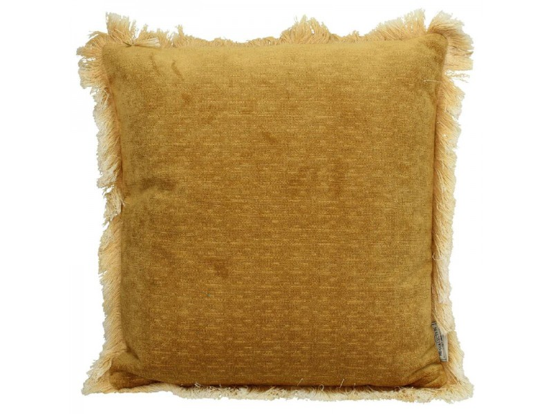 Cushion polyester yellow 45x45cm