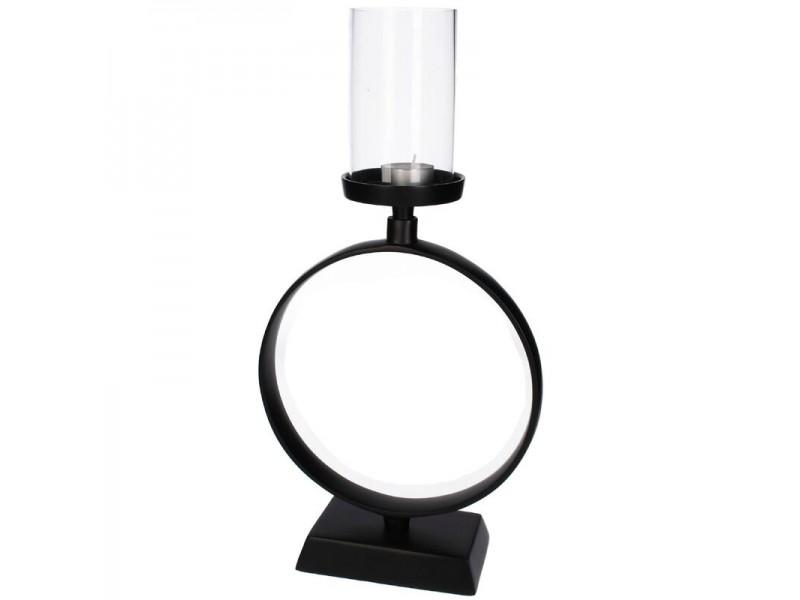 Candle holder aluminium black