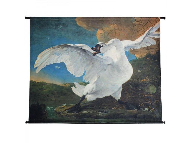 Wall hanging swan velvet white