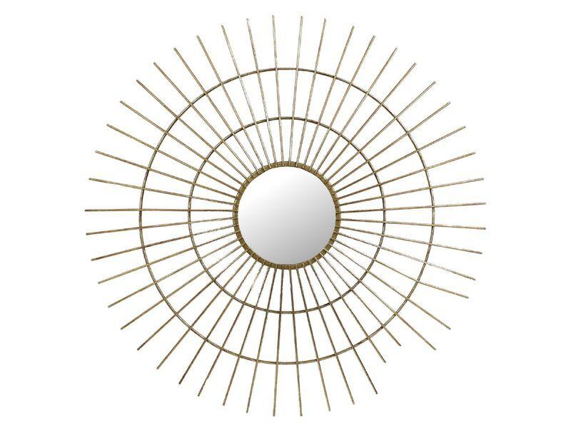 Mirror metal gold 77x3x77cm