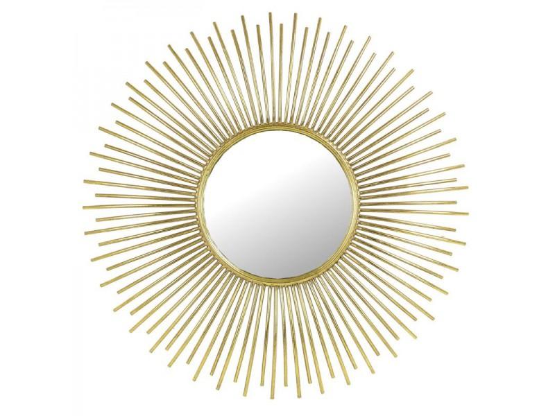 Mirror metal gold 75,5x3,5x75,5cm