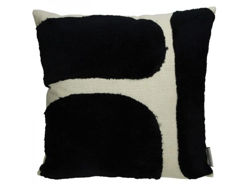 Cushion cotton black 45x45cm