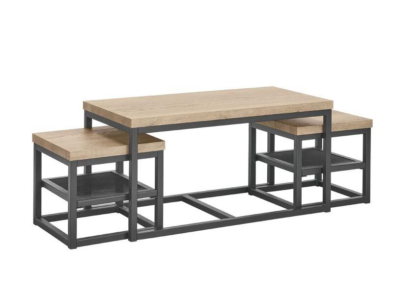 Salontafel Sontari houtstructuur/metaal