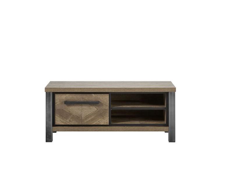 tv-meubel oltia houtstructuur/metaal