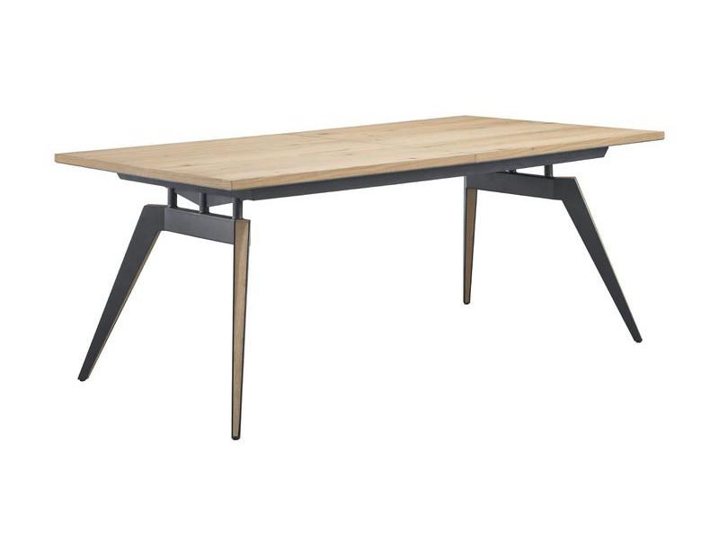 eettafel uitschuifbaar pento eikenhout 270/210x105cm
