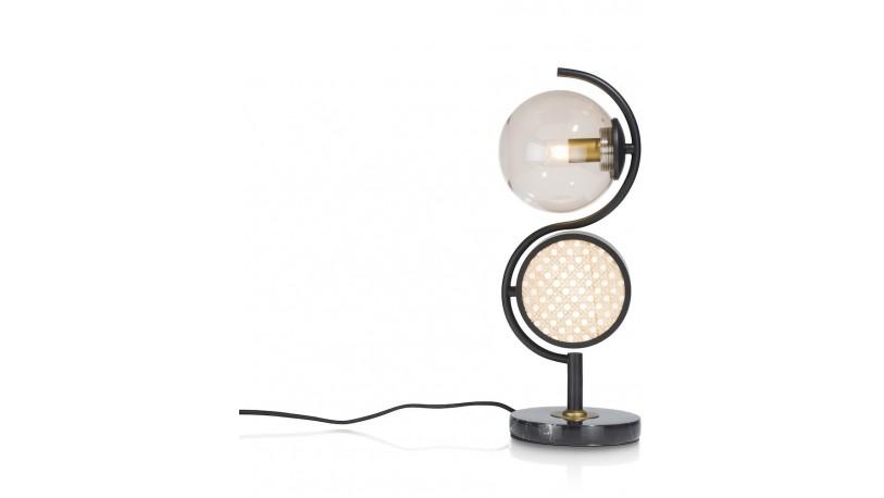 Lia Tafellamp 1*G9+1*E14 - Bruin
