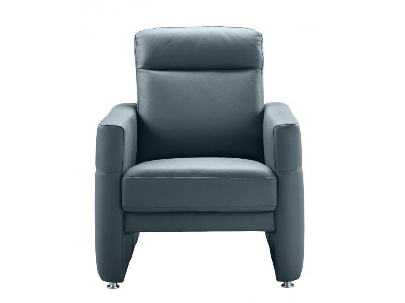 fauteuil calosso grijsblauw leer