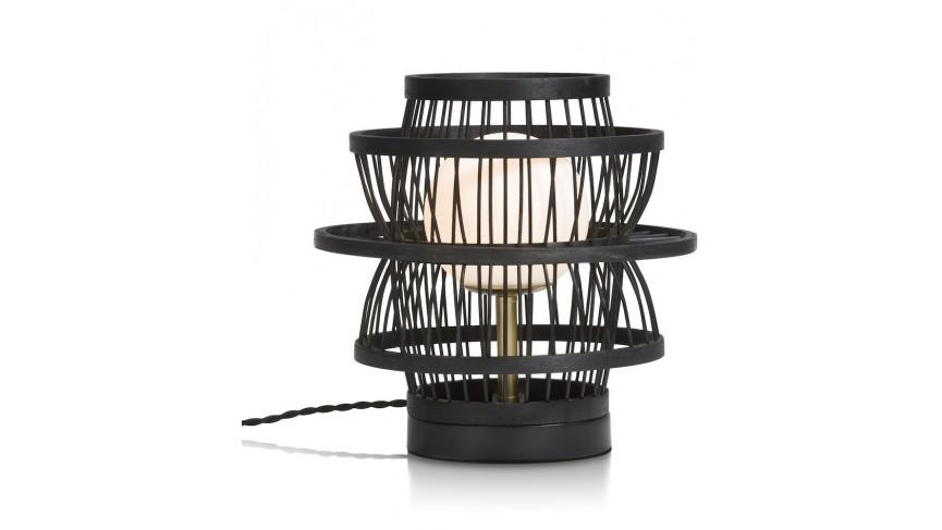 Bali Tafellamp 1*G9 - Zwart / Antraciet